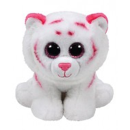 Jungly World Beanie Babies Tabor Tiger pink white 6 inch