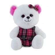 Jungly World Happy Teddy Bear Purple 10 inch