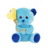 Jungly World Lovely Teddy Bear Blue 10 inch