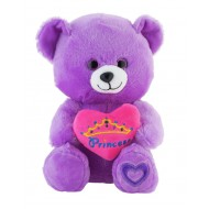 Jungly World Princess Teddy Bear Purple 10 inch