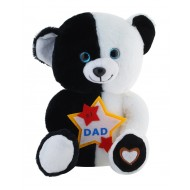 Jungly World No 1 Dad Teddy Bear Black White 10 inch