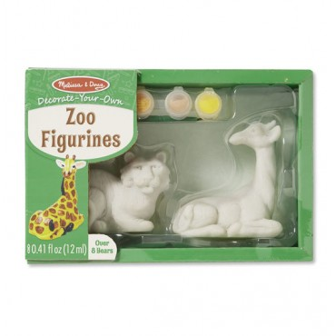 Melissa & Doug Decorate Your Own Zoo Figurines