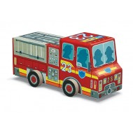 Crocodile Creek Fire Truck Vehicle Puzzle
