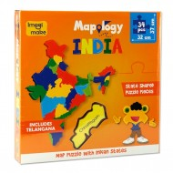 Imagimake States of India Map Puzzle with Indian States