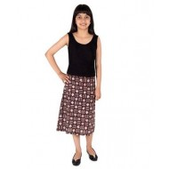Silverthread Knee Length Pencil Skirt, Brown