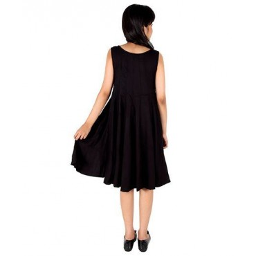 Silverthread Dress With Panel, Black
