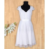 Silverthread Elegent Dress White