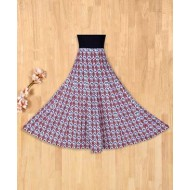 Silverthread Mughal Print Umbrella Skirt Multicolor