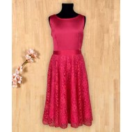 Silverthread Stain Yolk Flared Dress Dark Pink
