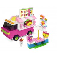 Shopkins Kinstructions Food Fair Truck Play Set 184 piece