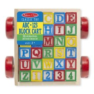 Melissa & Doug Classic ABC Block Cart