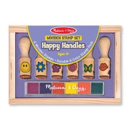 Melissa & Doug Wooden Stamp Set Happy Handles