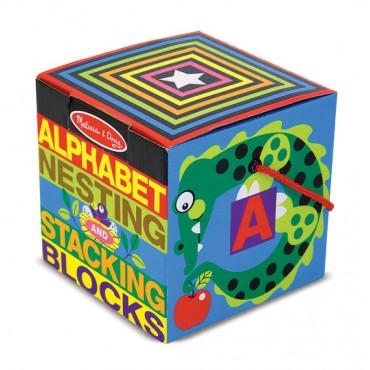 Melissa & Doug Alphabet Nesting and Stacking Blocks