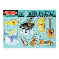 Melissa & Doug Musical Instruments Sound Puzzle 8 Pieces