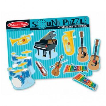 Melissa & Doug Musical Instruments Sound Puzzle 8 Pieces