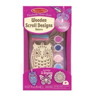 Melissa & Doug Decorate Your Own Wooden Scroll Designs Nature