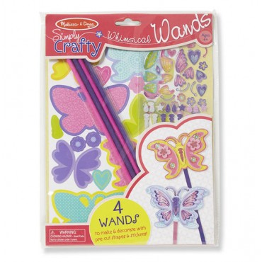 Melissa & Doug Simply Crafty Whimsical Butterfly Wands