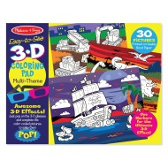 Melissa & Doug 3D Coloring Book Boy