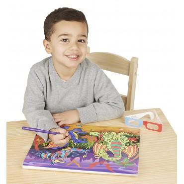Melissa & Doug 3D Coloring Book Boy