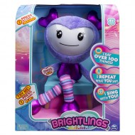 Brightlings Interactive Singing Talking 15 inch Stuffed Figure Purple