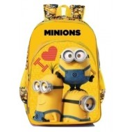 I Love Minions Yellow and Black School Bag 16 inch