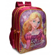 Disney Princess Reversible Sequence School Bag 14 inch Pink