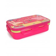 Peppa Pig Lunch Box with Spoon Fork Pink