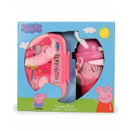 Peppa Pig Lunch Box Water Bottle Combo Red