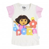 Dora Off White Pink T-Shirt DO1EGT2512