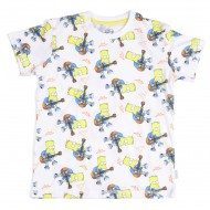 The Simpsons Printed White T-Shirt SI1EBT2038