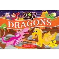 Art Factory 2 In 1 Dragons Puzzle Set