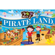 Art Factory 2 In 1 Pirate Land Puzzle Set