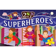 Art Factory 2 In 1 Superheroes Puzzle Set