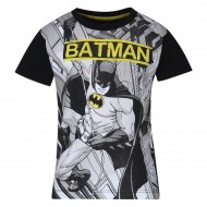 Batman White Black T-Shirt BM0FBT542