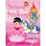 Art Factory Magical 5 In 1 Colouring Book Prince And Princess