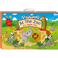 Art Factory My Big Box Of Puzzle And Book Funat The Zoo