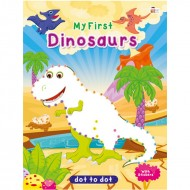 Art Factory Dot To Dot Activity Book With Stickers Dinosaurs