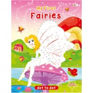 Art Factory Dot To Dot Activity Book With Stickers Fairies