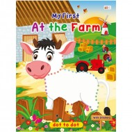 Art Factory Dot To Dot Activity Book With Stickers At The Farm