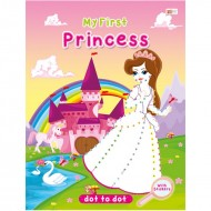 Art Factory Dot To Dot Activity Book With Stickers Princess