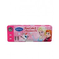 Disney Frozen 2 Button Pencil Box Pink