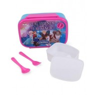 Disney Frozen Friends Magic Blue Lunch Box Pink