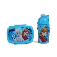 Disney Frozen Lunch Box and Water Bottle Blue