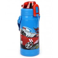 Hot Wheels 320ml Double Walled Sipper Bottle, Multi Color