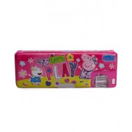 Peppa Pig 1 Button Pencil Box Pink