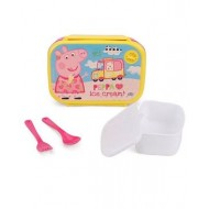 Peppa Pig Loves Ice Cream Lunch box Yellow