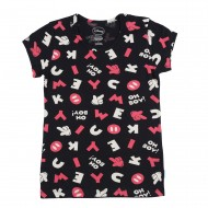 Mickey & Friends Black T-Shirt MF1EGT2313