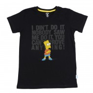 The Simpsons Black T-Shirt SI1EBT2343