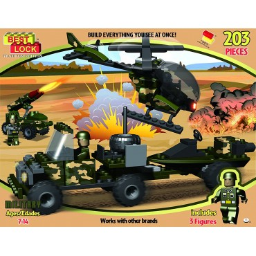 Best Lock Military Block Set 203 Pieces