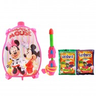 Holi Pichkari Back Pack Cartoon Tank Squirter F4 With Gulaal - Pink